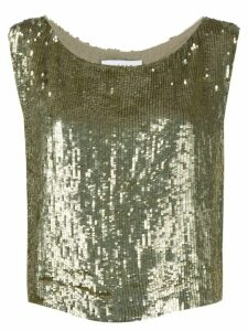 P.A.R.O.S.H. Gummy sequinned top - GOLD