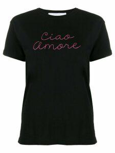 Giada Benincasa slogan print T-shirt - Black