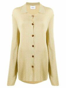 Nanushka Lozan lurex shirt - GOLD