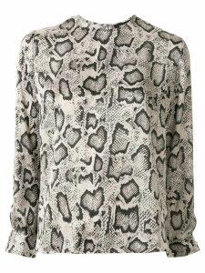 Paule Ka leopard print jumper - NEUTRALS
