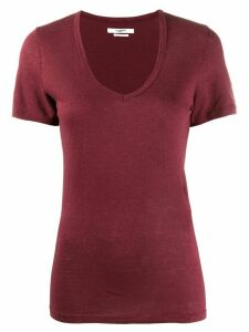 Isabel Marant Étoile v-neck jersey T-shirt - Red
