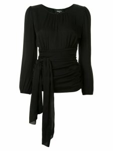 Paule Ka waist-tied fitted top - Black