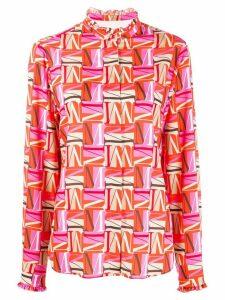 MSGM letter M printed shirt - PINK