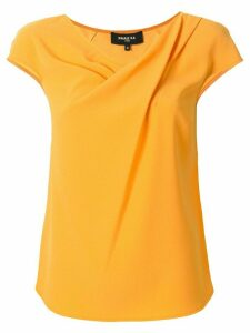 Paule Ka draped neckline blouse - Yellow