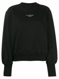 Drôle De Monsieur NFPM oversized sweatshirt - Black
