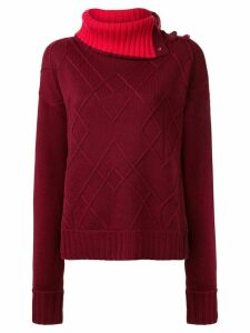 Shanghai Tang Chunky roll-neck jumper - Red
