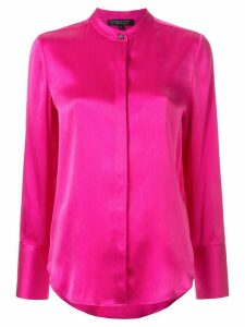 Shanghai Tang Jewel Button sandwashed shirt - PINK