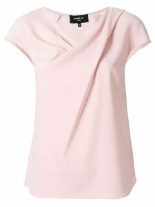 Paule Ka short-sleeve draped blouse - PINK