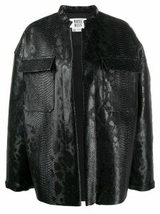 Maisie Wilen oversized embossed jacket - Black