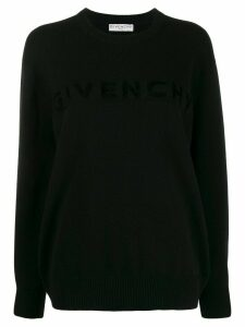 Givenchy lettering logo oversized jumper - Black