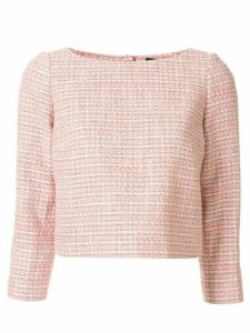 Paule Ka cropped tweed top - PINK