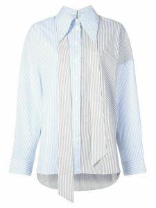 Tibi collage stripe shirt - Blue