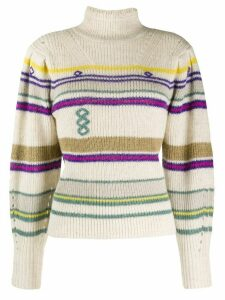 Isabel Marant Étoile knitted striped jumper - NEUTRALS