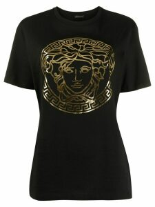 Versace motif detail T-shirt - Black