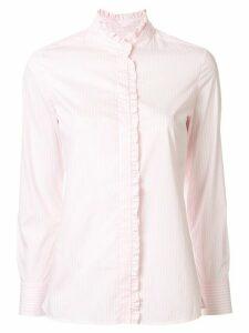 Paule Ka striped ruffled shirt - PINK