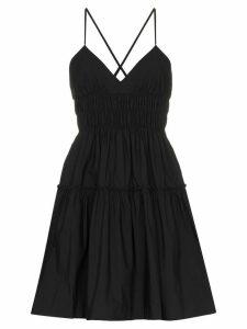 Three Graces Mia tiered mini dress - Black
