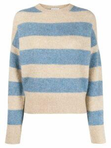 Brunello Cucinelli stripe print jumper - NEUTRALS