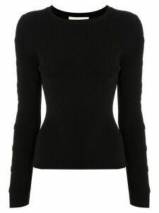 Jonathan Simkhai cut-detail fitted jumper - Black