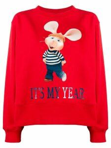 Alberta Ferretti long sleeve printed sweatshirt - Red