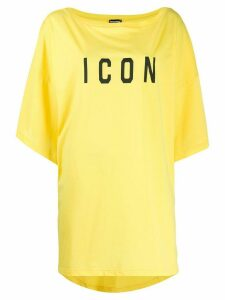 Dsquared2 Icon print oversized T-shirt - Yellow