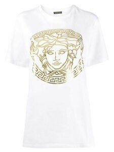 Versace motif detail T-shirt - White