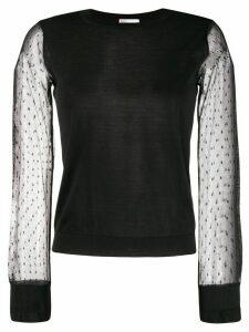 RedValentino tulle sleeve jumper - Black