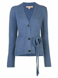 Brock Collection belted waist cardigan - Blue