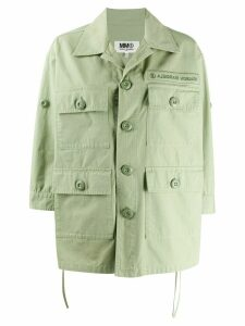 Mm6 Maison Margiela multi pocket shirt jacket - Green