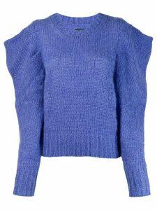 Isabel Marant Ivelyne puffed shoulder jumper - Blue
