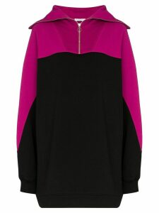 Ninety Percent oversized zipped sweatshirt - PINK