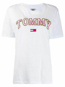 Tommy Jeans Neon boyfriend-fit cotton T-shirt - White