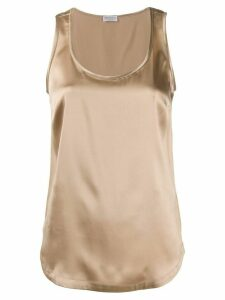 Brunello Cucinelli scoop neck tank top - Brown