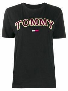 Tommy Jeans Neon boyfriend-fit cotton T-shirt - Black