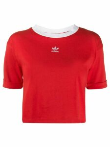 adidas cropped T-shirt - Red