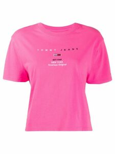 Tommy Jeans 1985 cropped cotton T-shirt - PINK