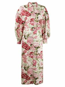 P.A.R.O.S.H. floral-print dress - NEUTRALS