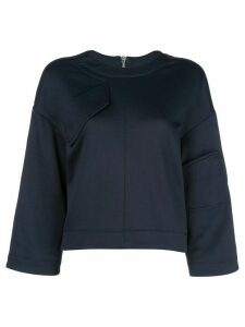 Tibi tech terry sweatshirt - Blue
