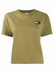 Tommy Jeans logo badge cropped T-shirt - Green