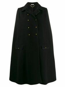 Miu Miu double-breasted knit cape - Black