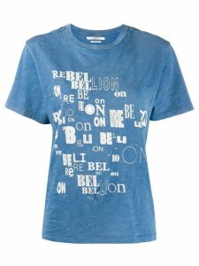 Isabel Marant Étoile Rebellion jersey T-shirt - Blue
