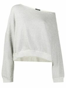 R13 off-the-shoulder sweatshirt - Grey