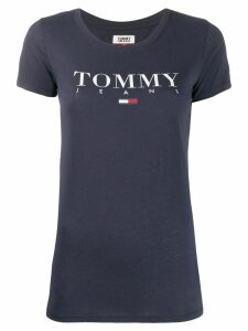 Tommy Jeans Essential logo slim-fit T-shirt - Blue