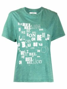 Isabel Marant Étoile Rebellion graphic T-shirt - Green