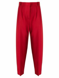 Alexander McQueen virgin wool peg trousers - Red