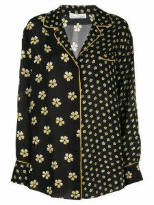 Oscar de la Renta floral print pajama shirt - Black