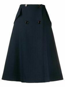 Mm6 Maison Margiela buttoned A-line skirt - Blue