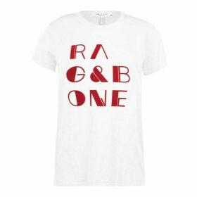 Rag and Bone R And B Logo Tee Ld01