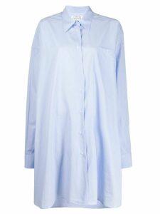 Maison Margiela asymmetric longline shirt - Blue