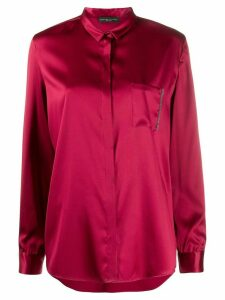 Fabiana Filippi long-sleeved satin shirt - Red