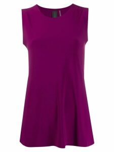 Norma Kamali slim-fit tank top - PURPLE